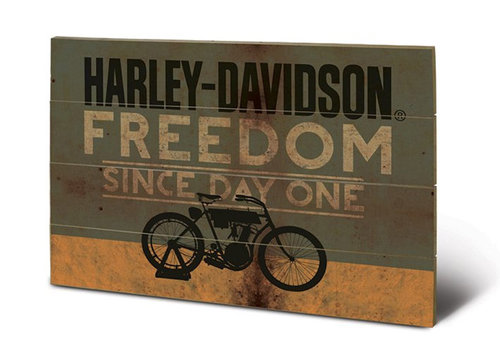 Harley Davidson Wooden Wall Art - Freedom