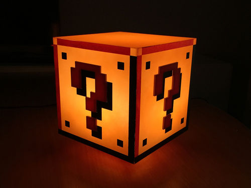 Nintendo Super Mario Question Block -lamppu