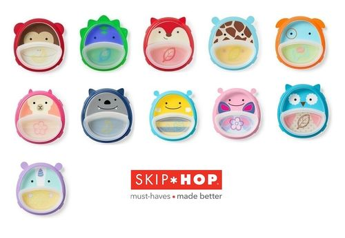 Skip Hop Zoo Smart Serve Non-Slip Training Set -ensilautanen