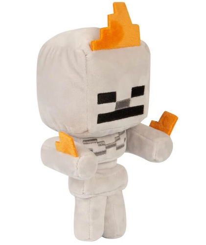 Minecraft pehmo - Happy Explorer Skeleton on Fire