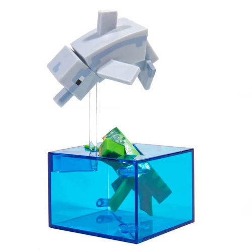 Minecraft Adventure Figure Dolphin and Turtle