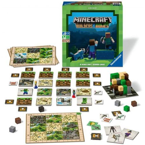 Ravensburger Minecraft Builders & Biomes -lautapeli